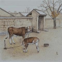 中国烙画大师林伟烙画--乡情系列  精品装饰
