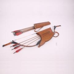 弓箭非物质文化传承人徐明坤--逐鹿弓  性能优良 花纹装饰